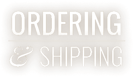 Ordering & Shipping at Pleasant View Gardens