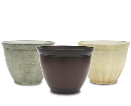 12.0 Color Pot Cement, Chocolate, and Sandstone Sold Individual