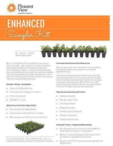 Enhanced™ Sampler Kit Sales Sheet