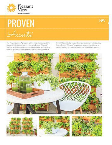 Proven Accents® Sales Sheet