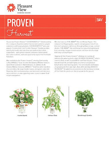 Proven Harvest™ Sales Sheet