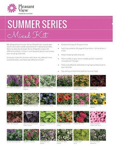 Summer Series Mixed Kit Sales Sheet
